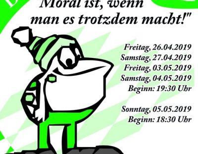 """2019: """"Moral ist, wenn man es trotzdem macht!"""""""